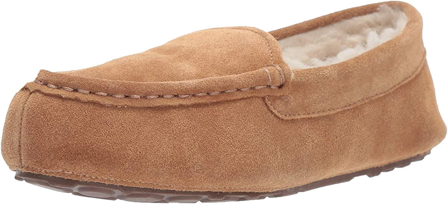 Amazon Essentials Pine Women's Leather Moccasin Slipper