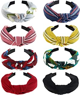 8 Pack Women's Headbands Headwraps Hair Bands Bows Accessories