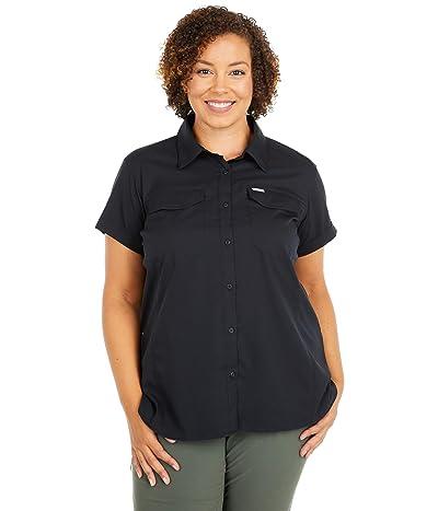 Columbia Plus Size Silver Ridgetm Lite Short Sleeve Shirt (Black) Women