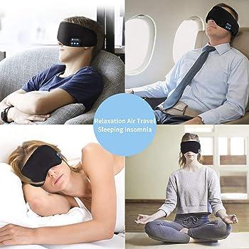 Homder Sleep Headphones Bluetooth 5.0 Eye Mask for Men Women, Noise Cancelling Sleeping Mask Block Light, Soft Comfor...