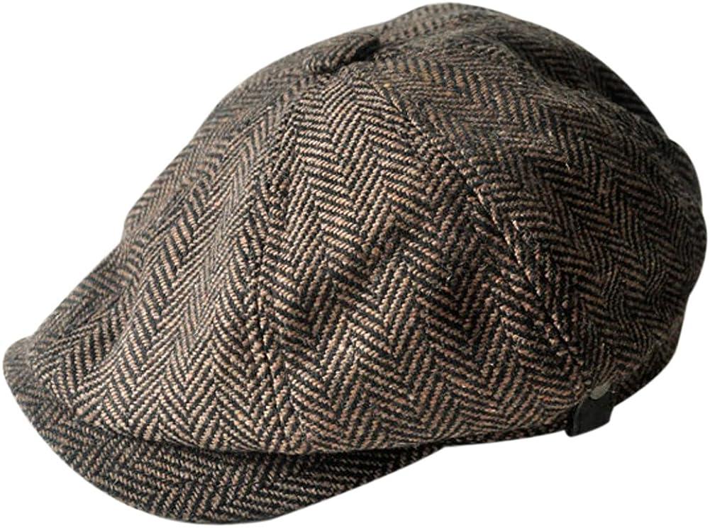 gift MINAKOLIFE Mens Vintage Style 'Shelby' Hat supreme Twill Cap Cabbi Cloth