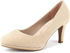 DREAM PAIRS City_ct Women's Classic Low Stiletto Heels Dress Pumps Shoes