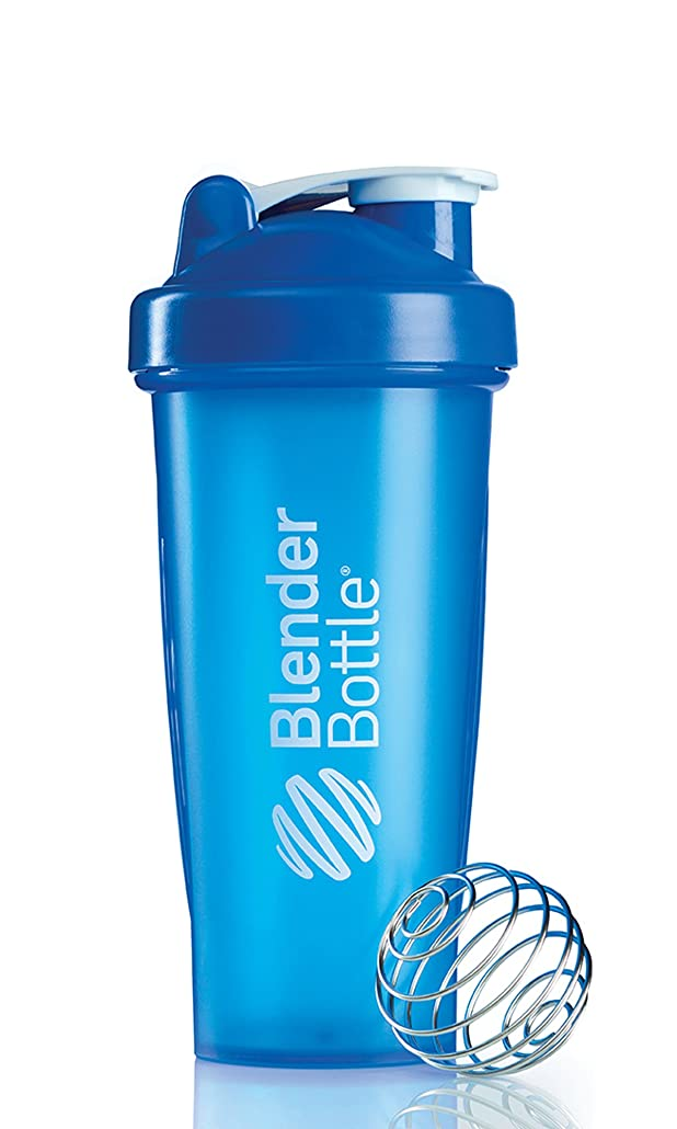 列車狂気メトロポリタンBlenderBottle Classic Shaker Bottle, 28-ounce, Blue/Blue by Blender Bottle
