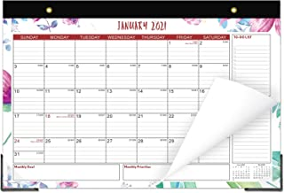 Desk Calendar 2021 17x12 Desktop Pad Calendar Academic Wall Calendar Monthly Desk Blotter Family Calendar 18 Month