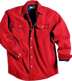 93f48803ae4a TRM Men's Cotton Tahoe Stonewashed Fleece Denim Shirt Jacket (10 Color,  XS-6XLT