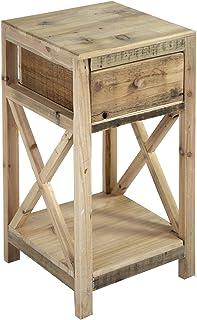 Nature by Kolibri - Mesa de jardín con estante de madera y 1 cajón tamaño pequeño 60 x 30 x 30 cm