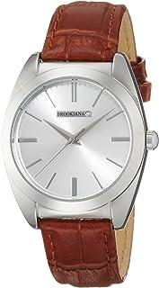 [ブルッキアーナ]BROOKIANA 天然ダイヤモンド シルバー×ブラウンレザー BAV003-SSLBR メンズ 腕時計
