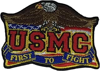 USMC FIRST TO FIGHT W/ EAGLE CUTOUT PATCH - COLOR - Veteran Owned Business