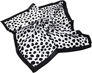 Premium Silk Feel Animal Print Square Satin Scarf 20
