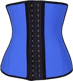 YIANNA Women's Underbust Latex Sport Girdle Waist Trainer Corsets Hourglass Body Shaper