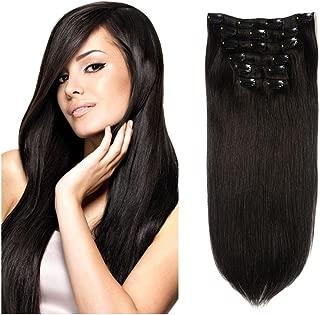 Lovbite Hair Human Hair Clip in Hair Extensions Double Weft 16