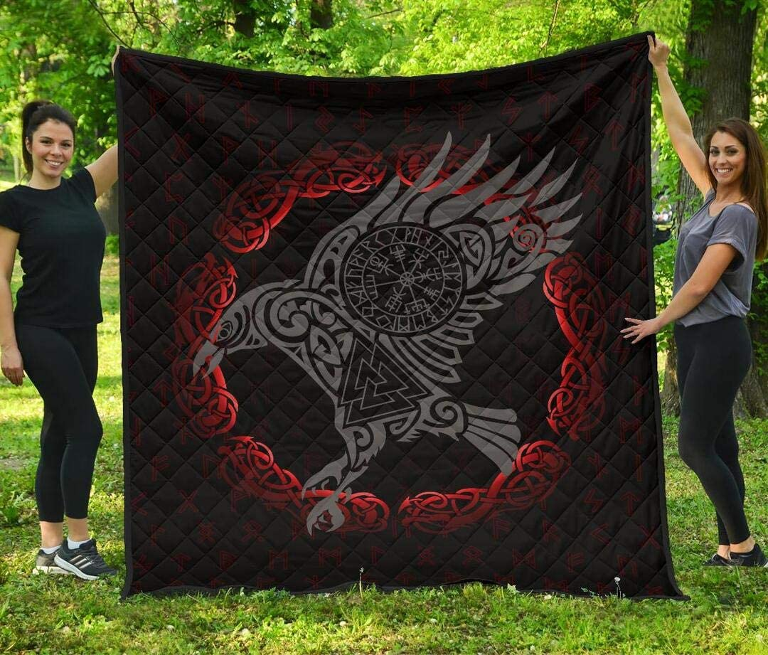 Personalized Limited Special Price Viking Raven Quilt - Old 40% OFF Cheap Sale Rune S Bed Set