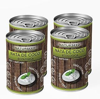Naturseed - Nata de coco ecológica ORIGINAL 4x 400ml para cocinar, sin lactosa, sin