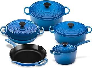 Le Creuset 9-piece Signature Cast Iron Cookware Set (Marseille)