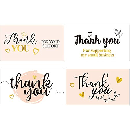 180 Pieces Thank You for Supporting My Business Cards Thank You ...