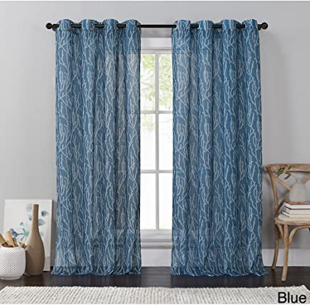 VCNY Branches Grommet Panel,  54 x 84,  Blue