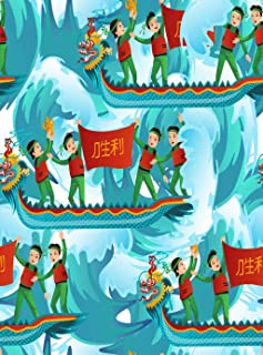 Menmek Poster Wall Art Print Family Party Decoration Dragons Boats Advertising Cartoon Celebration China 24x36 Inch Artwork Decor Living Room Bedroom Study Room Great Gift