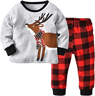 Fairy Baby Toddler Baby Boy Girl Christmas Outfit Clothes Cotton Deer Homewear Pajamas Set