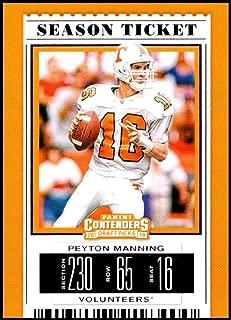 2019 Panini Contenders Draft Picks Season Ticket #80 Peyton Manning Tennessee Volunteers Official Collegiate Football Card of the NFL Draft