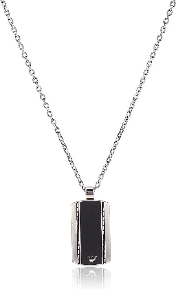 Emporio armani, collana spring con pendente,in acciaio inossidabile EGS1921040