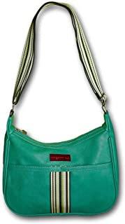 Bungalow 360 Original Vegan Leather Striped Hobo Bag
