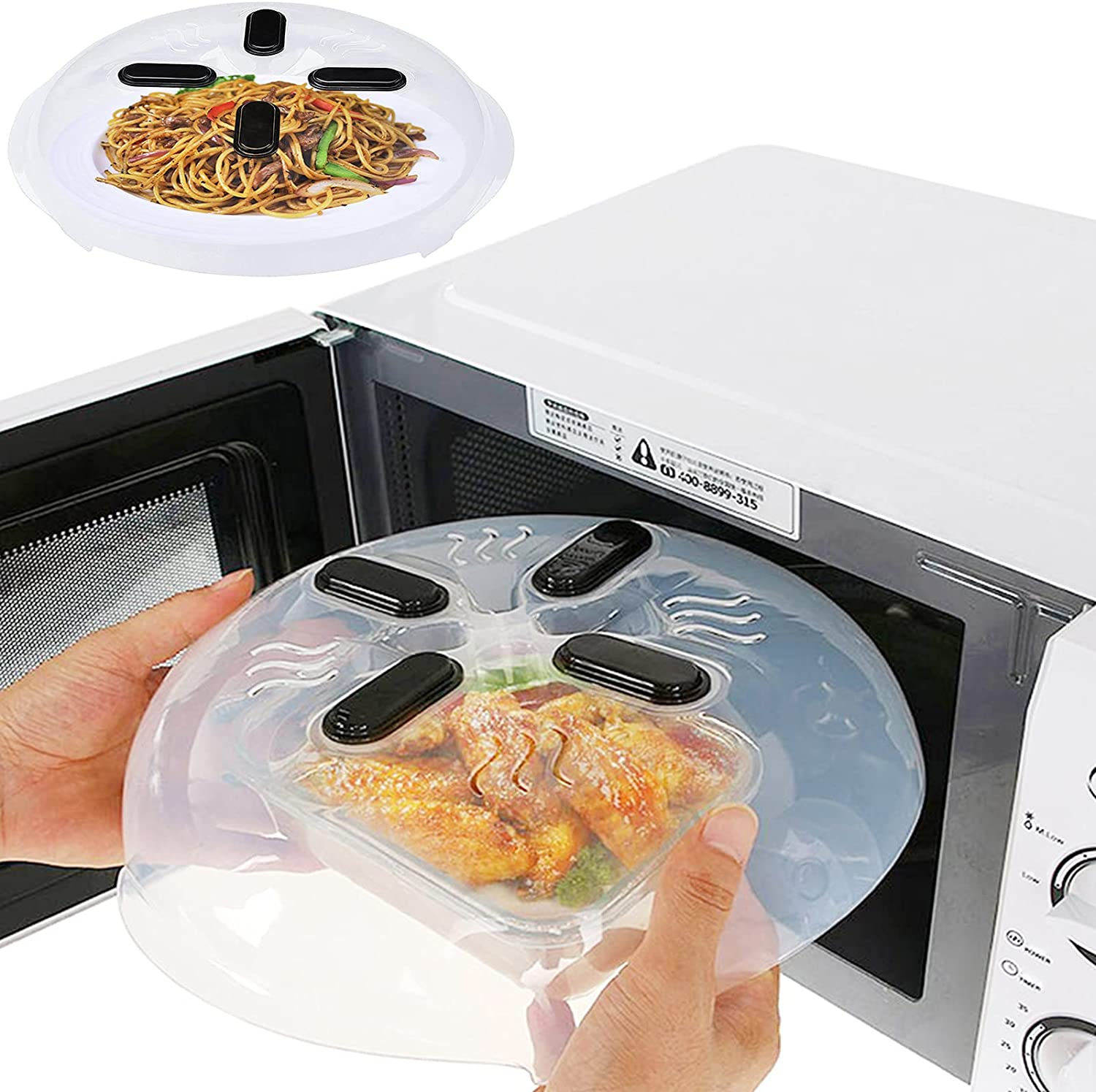 2 Pack Selling and selling Large Microwave Cover El Paso Mall Spla Splatter Food