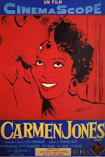 American Gift Services - Carmen Jones Vintage Harry Belafonte Movie Poster - 24x36