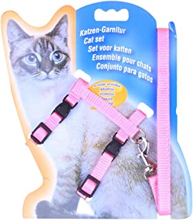 Freerun Cat Lead Leash Halter Harness Kitten Nylon Strap Belt Safety Rope Adjustable Cat Dog Collar