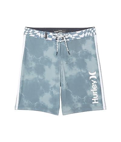 Hurley Kids Checker Print Tie-Dye Phantom Boardshorts (Big Kids)