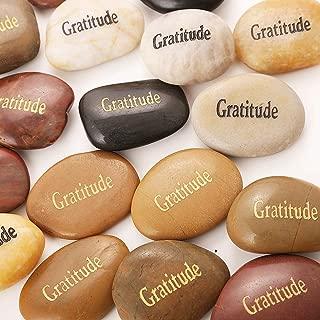 50PCS Gratitude RockImpact Gratitude Rocks Bulk Engraved Rocks Inspirational Stones Prayer Gifts Zen Chakra Worry Stones Motivation Encouragement Rocks Wholesale Gratitude Stones, 2