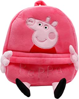 HXQ Pink Pig Kid Backpacks,Plush Toy Preschoolers Little Bag for Boy and Girl