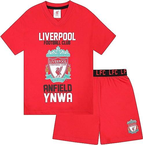 Liverpool FC officiel - Ensemble de pyjama court thème football - garçon