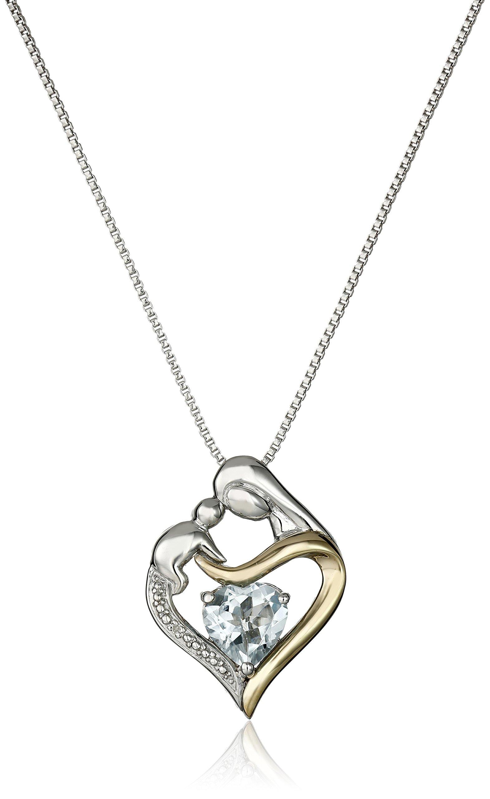 Sterling Silver and 14k Gold Heart Mom Pendant Necklace 18   sc 1 st  Amazon.com & Push Present: Amazon.com