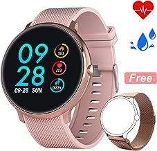 Bebinca Blood Pressure Smart Watch Fitness Activity Tracker Heart Rate Sleep Monitor IP67 Waterproof Bluetooth Pedometer Steps Calorie Counter Women Men