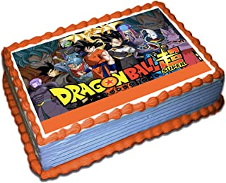 Dragon Ball Z Edible Cake Topper Icing Sugar Paper 8.5 x 11.5 Inches Sheet Edible Frosting Photo Birthday Cake Topper (Best Quality Printing)
