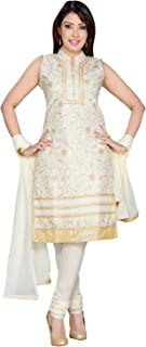 Darshi Fashion Women Cotton A-Line salwar suits, (dn1793, Off White, 36)