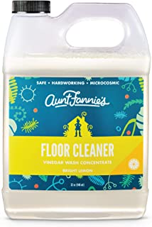 Aunt Fannie's Floor Cleaner Vinegar Wash - Multi-Surface Cleaner - 32 Ounce - Bright Lemon