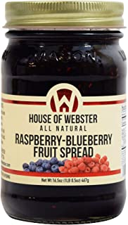 House of Webster Raspberry Blueberry Fruit Spread - No Added Refined Sugar - 16.5oz