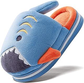 ZDQ Cálido Zapatillas Niña Invierno Pantuflas Niño Memory Foam Casa Zapatos con Dibujos Animados 22-33