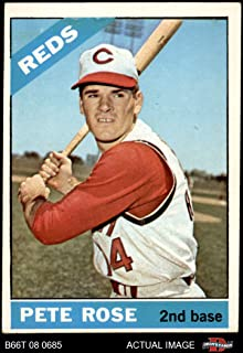 1966 Topps # 30 Pete Rose Cincinnati Reds (Baseball Card) Dean's Cards 3 - VG Reds