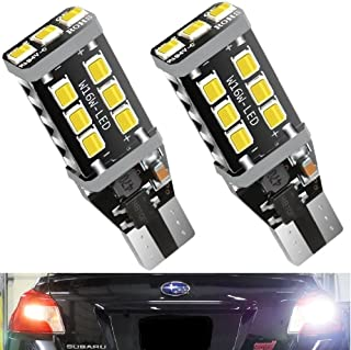 Trinity Space Extremely Bright Led Bulb 2200 Lumens ErrorFree 921 912 T10 T15 for Backup Reverse Lights, Xenon White, No Hyper Flash