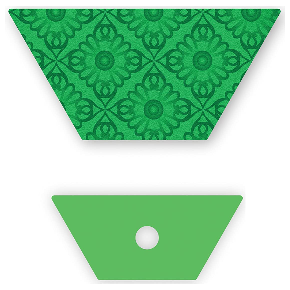 Crafter's Edge Q1052 English Paper Piecing Half Hexagon