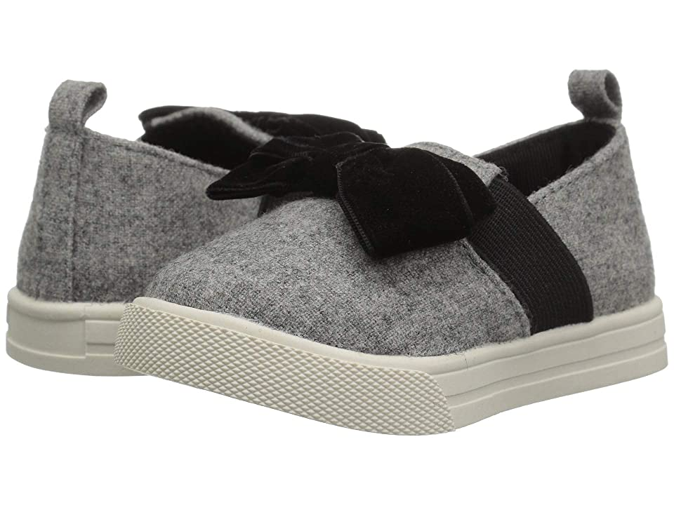 Baby Deer First Steps Slip-On with Bow (Infant/Toddler) (Grey) Girl