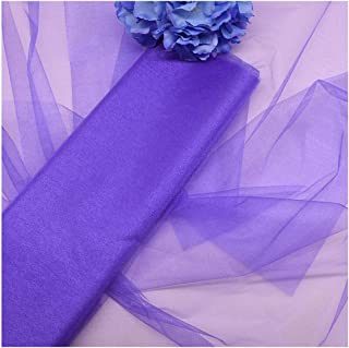 48/72cm 10M Crystal Organza Tulle Roll Fabric for Wedding Decoration Arches Chair Party Supplies,T13 Purple,48cmx10M