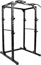 MSPORTS Power Rack Premium Cage H/B/D - 215x120x140 cm krachtstation tot 200 kg halterkooi squat fitnessstation