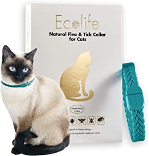 Ecolife All Natural Flea and Tick Collar for Cats Providing Flea and Tick Prevention from All Insects for 6 Months Waterproof