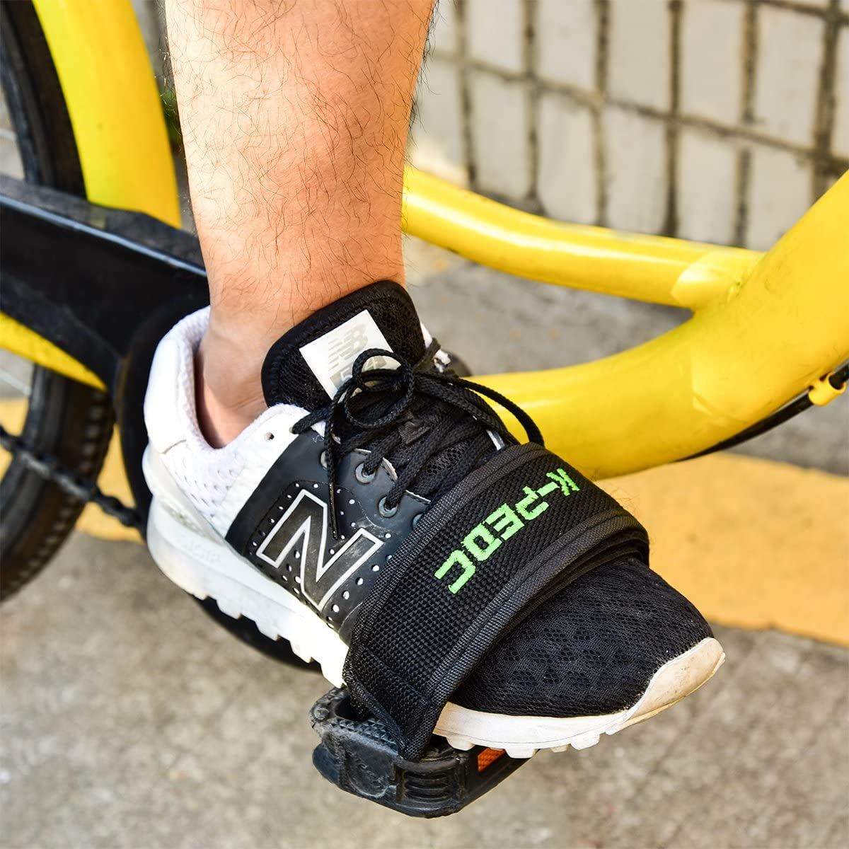 ZOSEN Bicycle Pedal Straps for Fixed Gear Mountain Bike Nylon Pedal Straps for Beginners