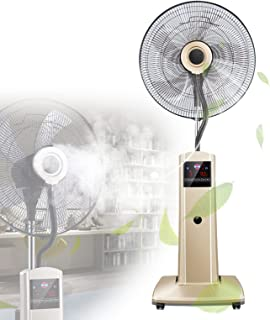 Floor Fan Multiple Modes, Cold Air Circulator Led Display with Remote Control, Industrial Fan Cool Down Quickly with1.7l W...