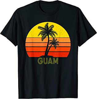 Guam Sunset Vintage Retro Graphic T Shirt