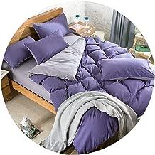 230X250cm AB Side Bedding Set Super King Duvet Cover Set Dark Blue +Beige 4pcs Bedclothes Adult Bed Set Man Duvet Flat Sheet,15,Spuper King